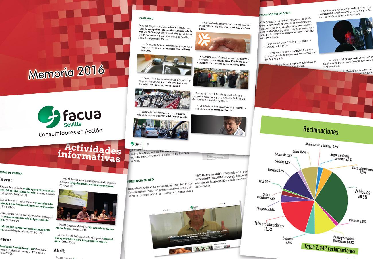 FACUA Sevilla publica su 'Memoria 2016'