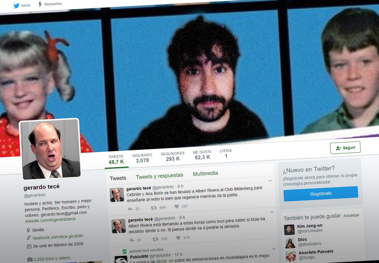 El tuitero @gerardotc usa de avatar el personaje televisivo Kevin Malone.
