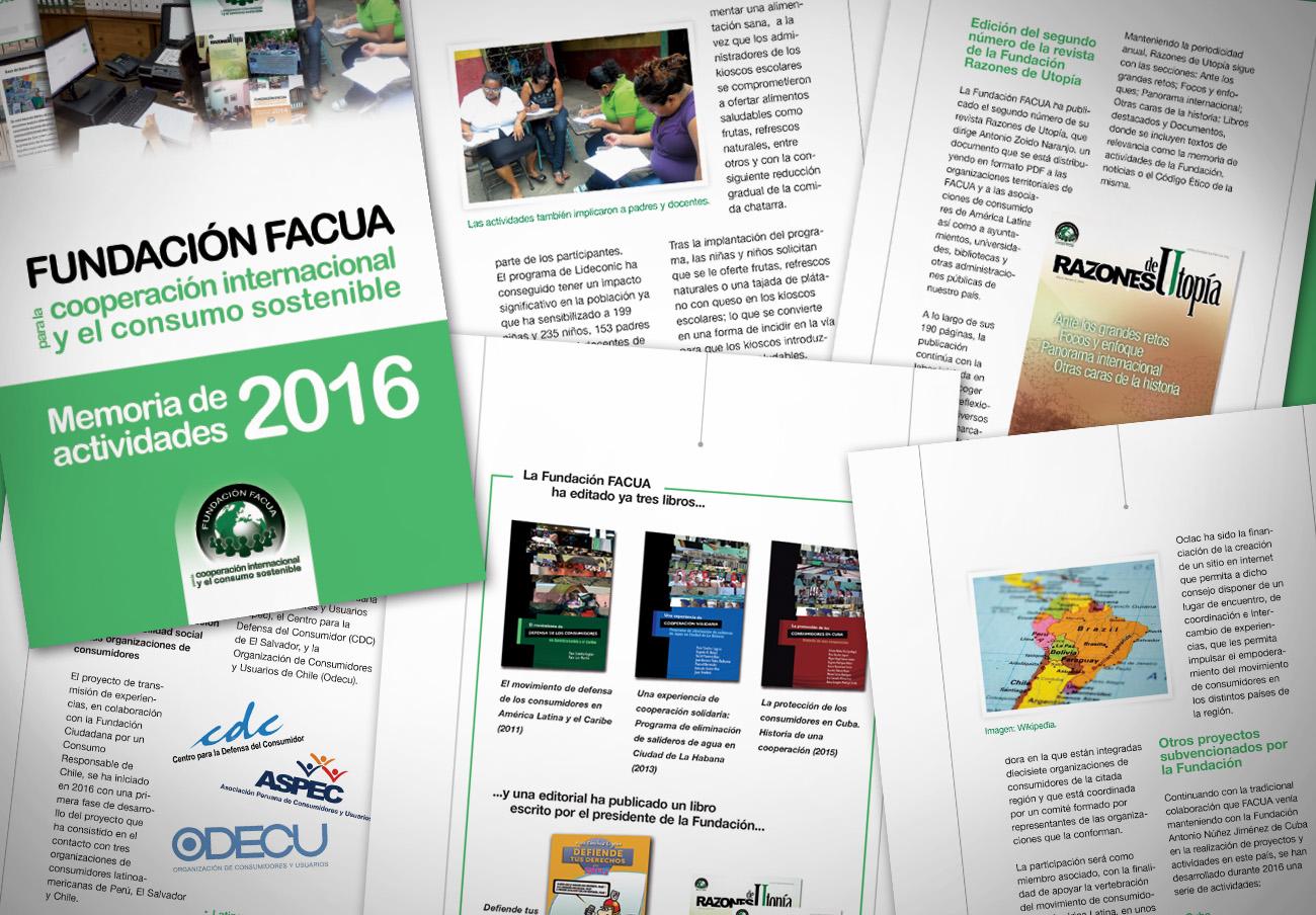 La Fundación FACUA publica su 'Memoria 2016'