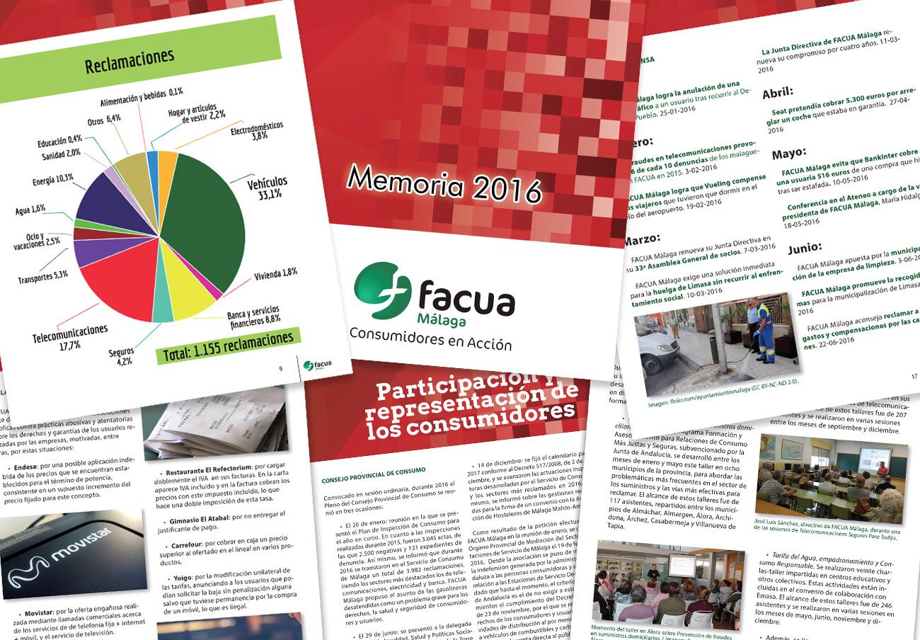 FACUA Málaga publica su 'Memoria 2016'