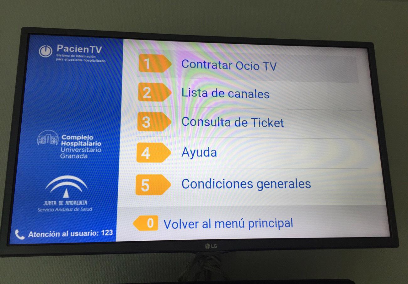 FACUA Granada pide explicaciones al hospital PTS tras el corte de la TV gratuita para los pacientes