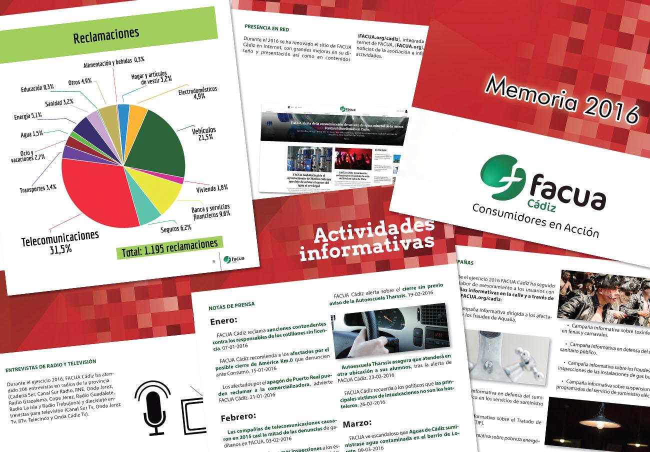 FACUA Cádiz publica su 'Memoria 2016'