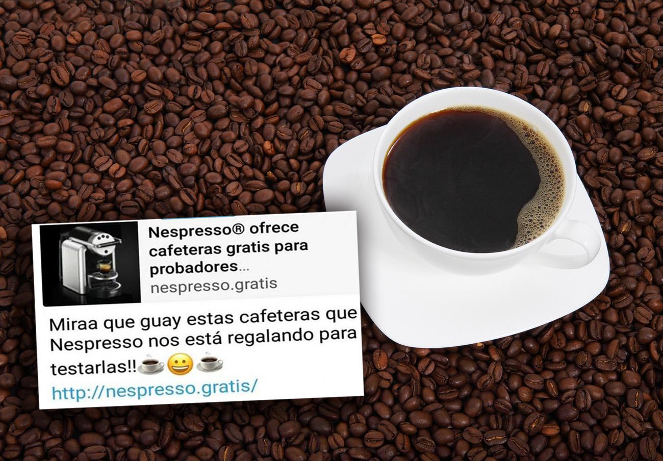 FACUA alerta de una nueva estafa viral por WhatsApp con el gancho de las cafeteras de Nespresso