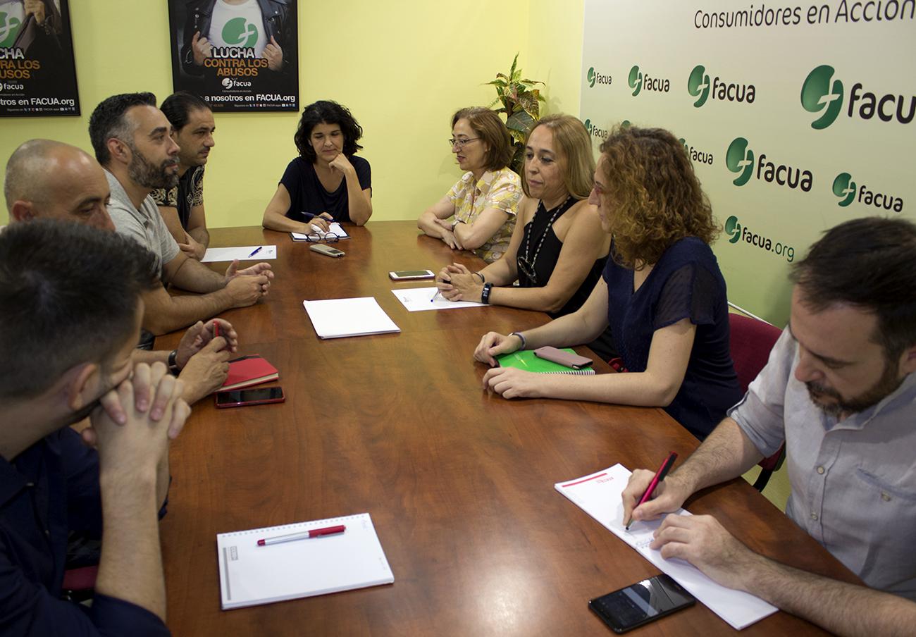 CCOO y FACUA Andalucía acuerdan un marco de unidad de acción en defensa de los derechos de los ciudadanos