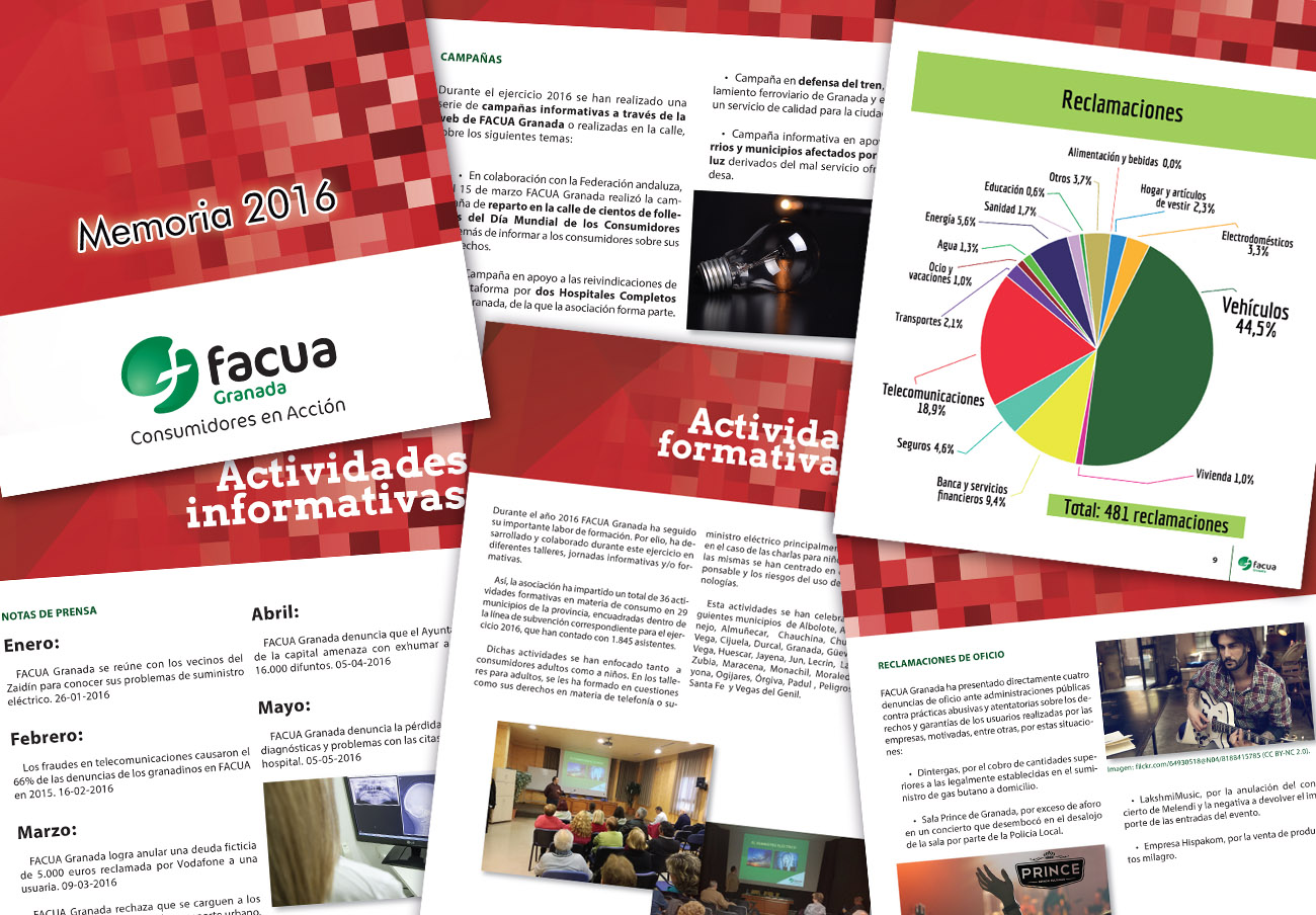 FACUA Granada publica su 'Memoria 2016'