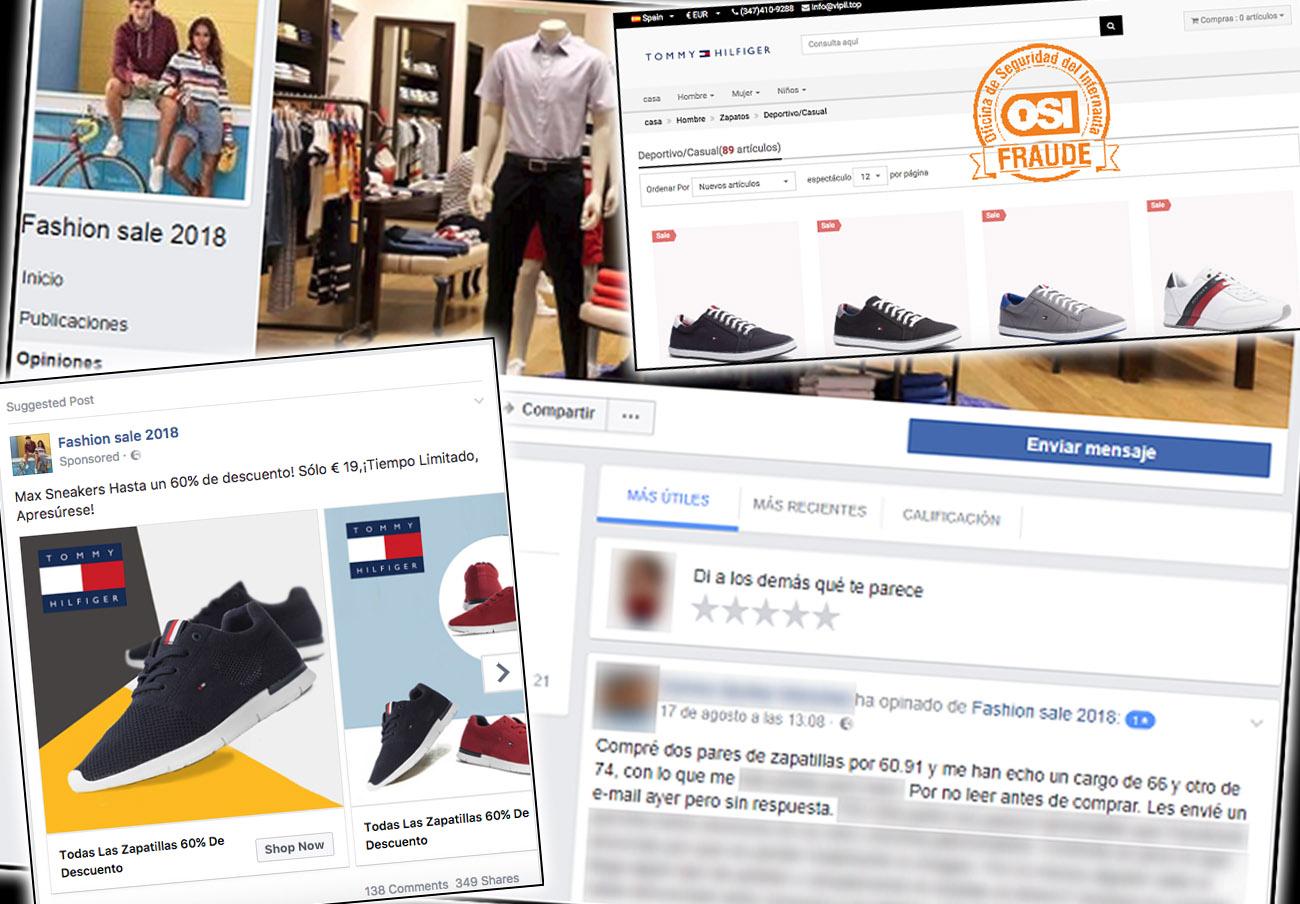 Alertan de publicaciones en Facebook con descuentos fraudulentos en marcas de ropa y calzado