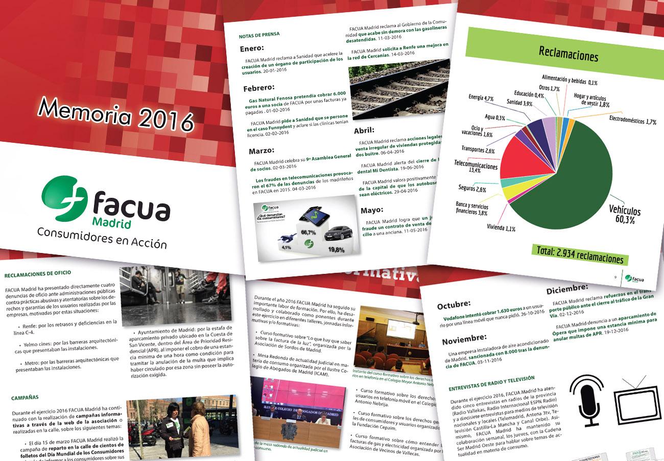 FACUA Madrid publica su 'Memoria 2016'