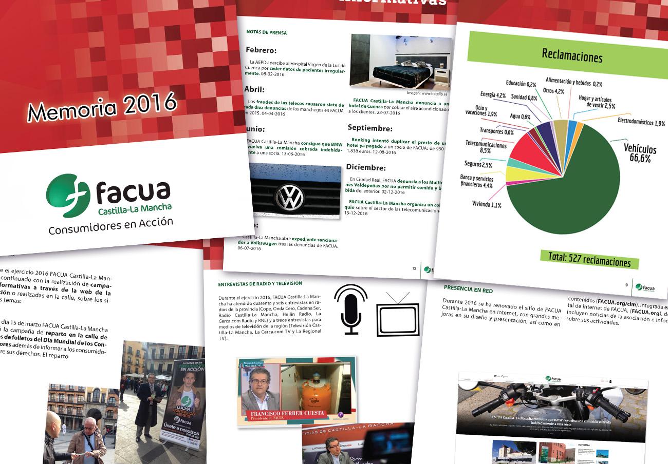 FACUA Castilla-La Mancha publica su 'Memoria 2016'