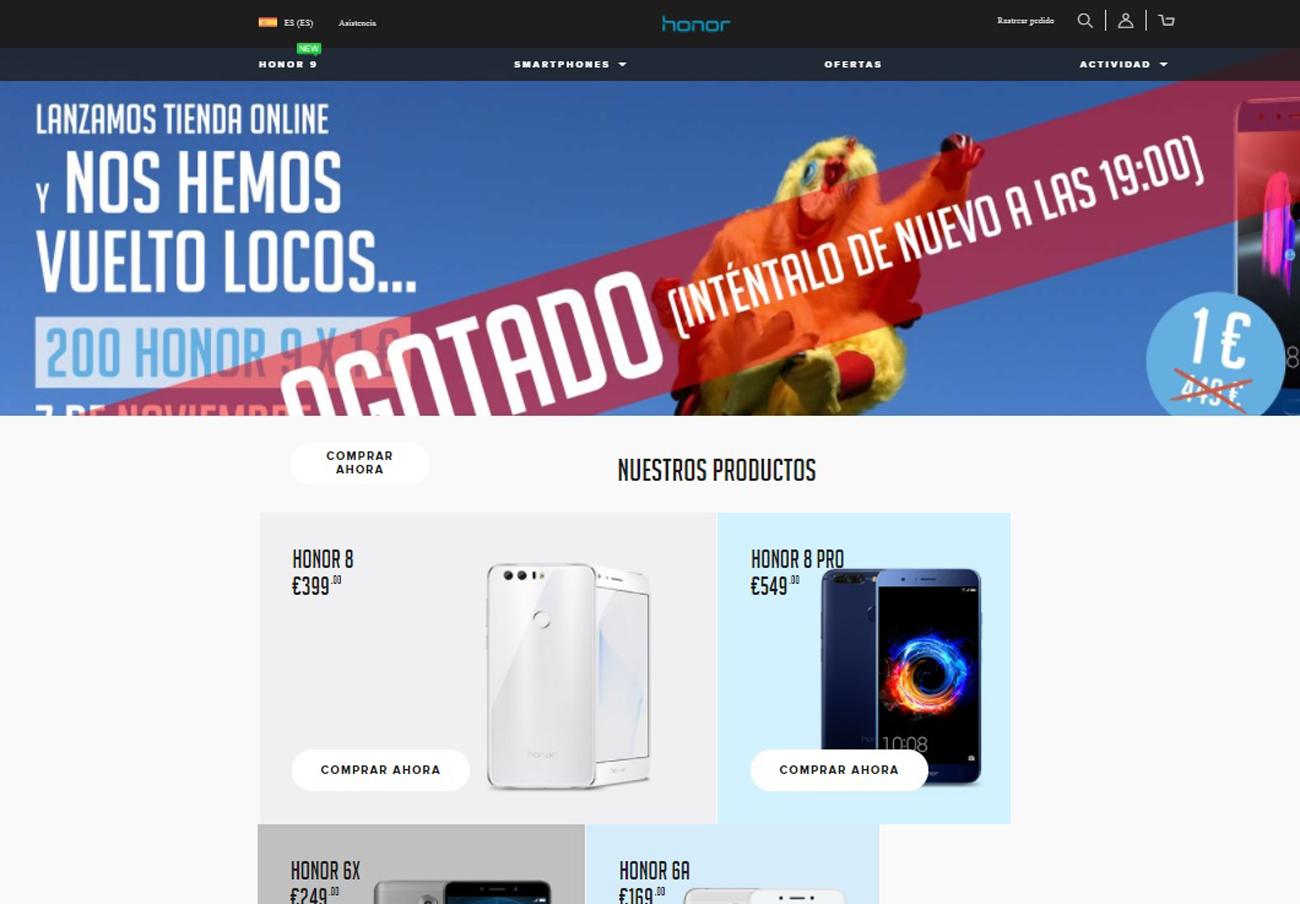 Móviles a 1 euro: FACUA denuncia el caos en la web de Honor tras las quejas de multitud de usuarios