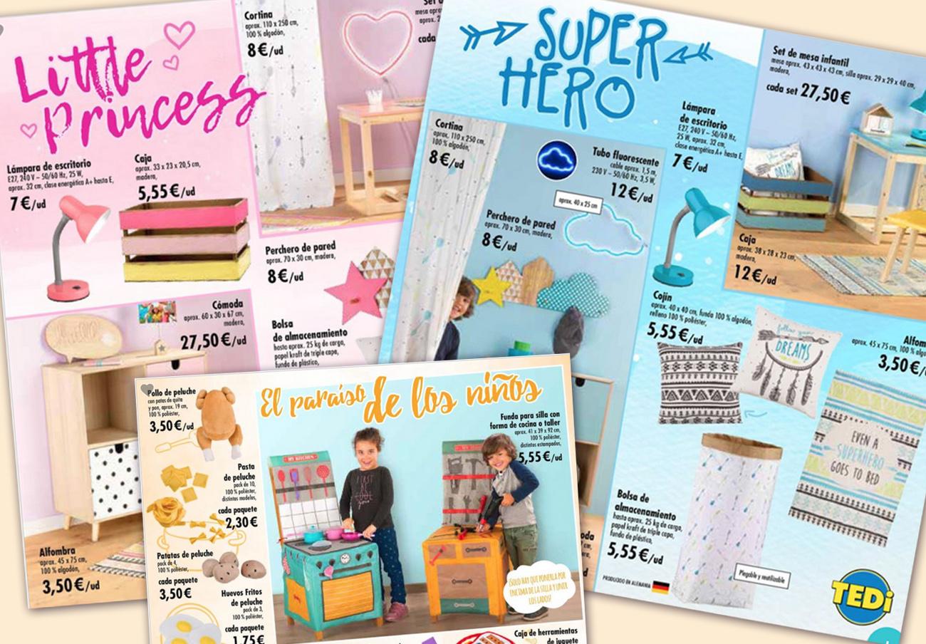 Ellas a la cocina y ellos a arreglar cosas y ser superhéroes: así es el catálogo sexista de TEDi