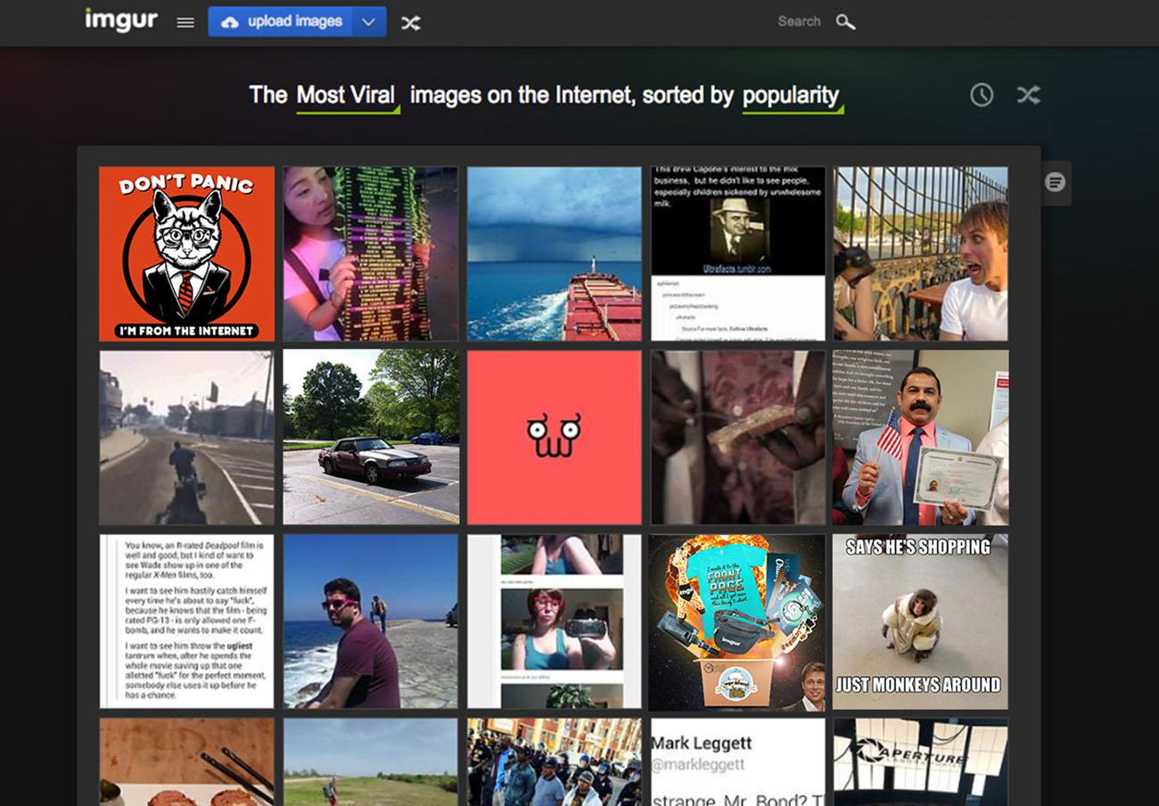 FACUA alerta de una filtración masiva de datos en la plataforma de intercambio de imágenes Imgur