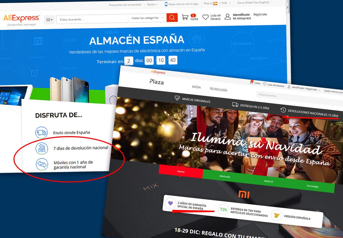 Tras la denuncia de FACUA, AliExpress amplía la devolución de 7 a 15 días y la garantía para móviles