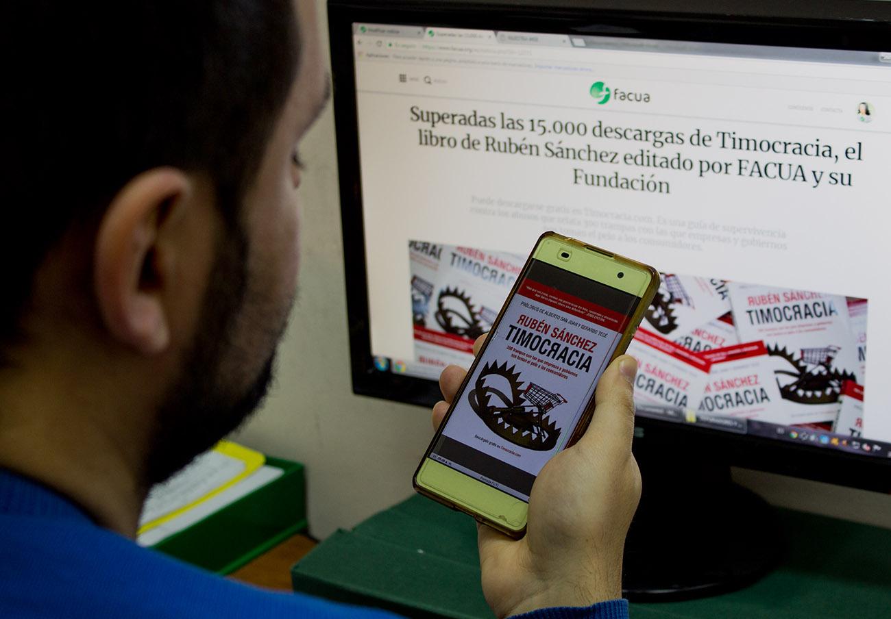 Superadas las 20.000 descargas de Timocracia, el libro de Rubén Sánchez editado por FACUA y su Fundación
