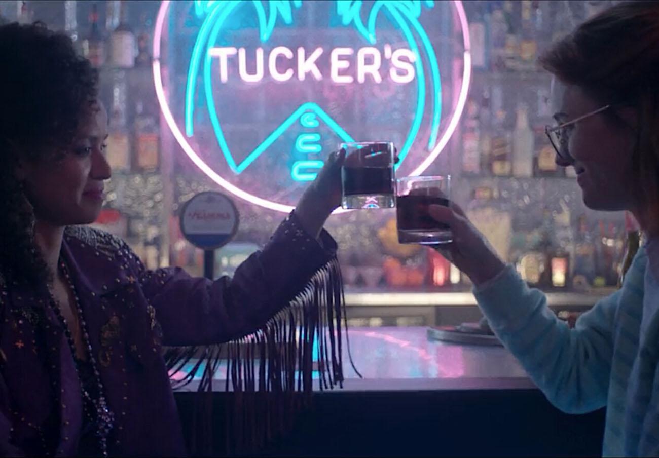 Fotograma del episodio San Junipero de la tercera temporada de Black Mirror. | Imagen: Netflix.