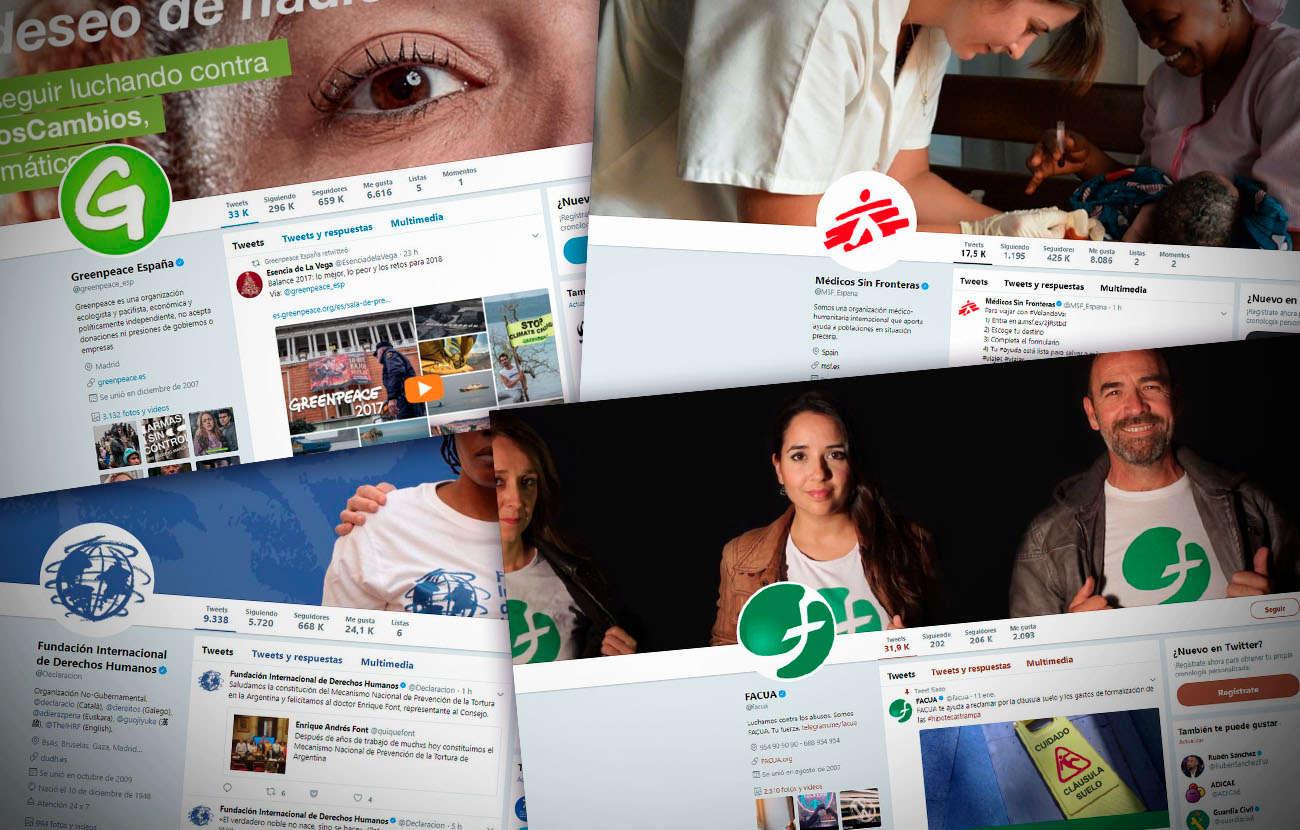 Éstas son las 10 ONG españolas con más seguidores en Twitter al cierre de 2017