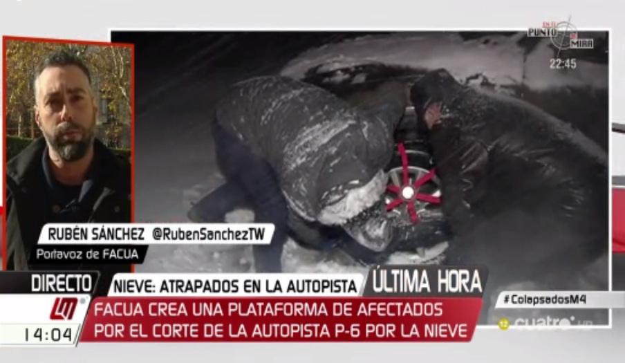 """Rubén Sánchez sobre el colapso en la AP-6:""""Es alucinante que una vez más nadie tenga la culpa de nada"""""""