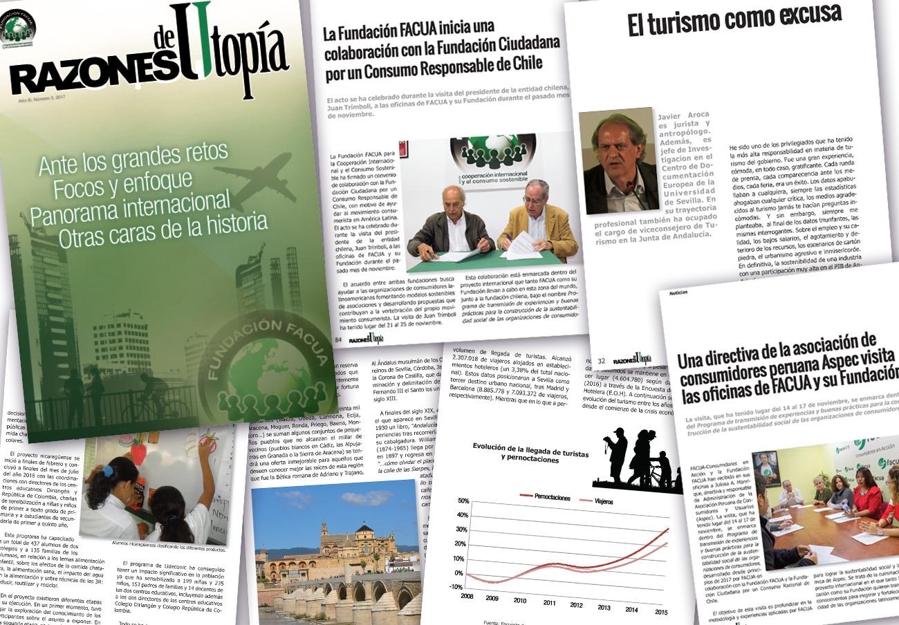 La Fundación FACUA publica el tercer número de su revista 'Razones de Utopía'