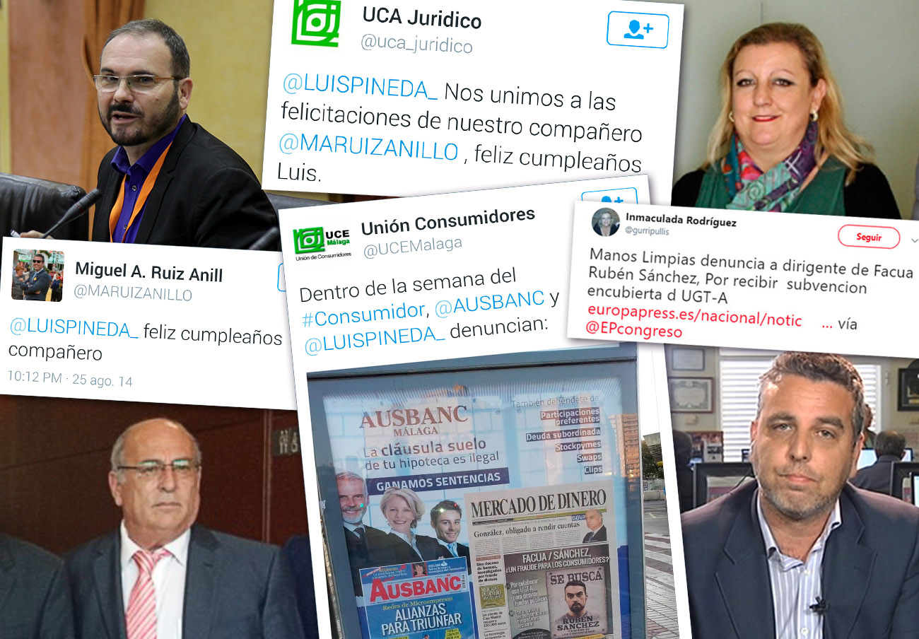 UCA-UCE ayudó a Ausbanc en sus campañas de difamación contra FACUA y sus dirigentes