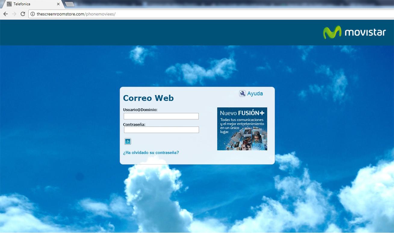 Captura de pantalla de la web fraudulenta.