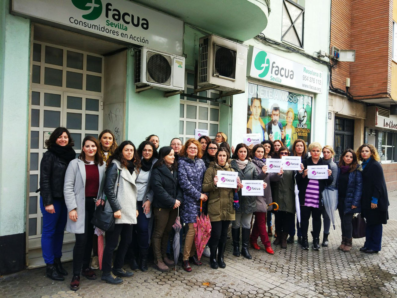 FACUA joins the feminist mobilisation and calls women to participate in the actions organised for the 8 of March