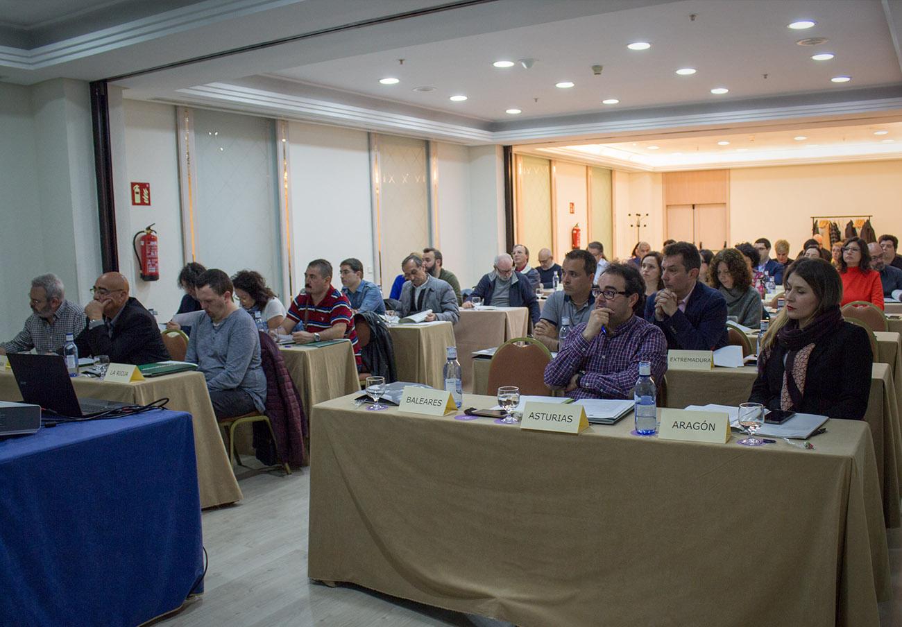 Delegados de las organizaciones y delegaciones territoriales de FACUA durante la Asamblea de 2018.