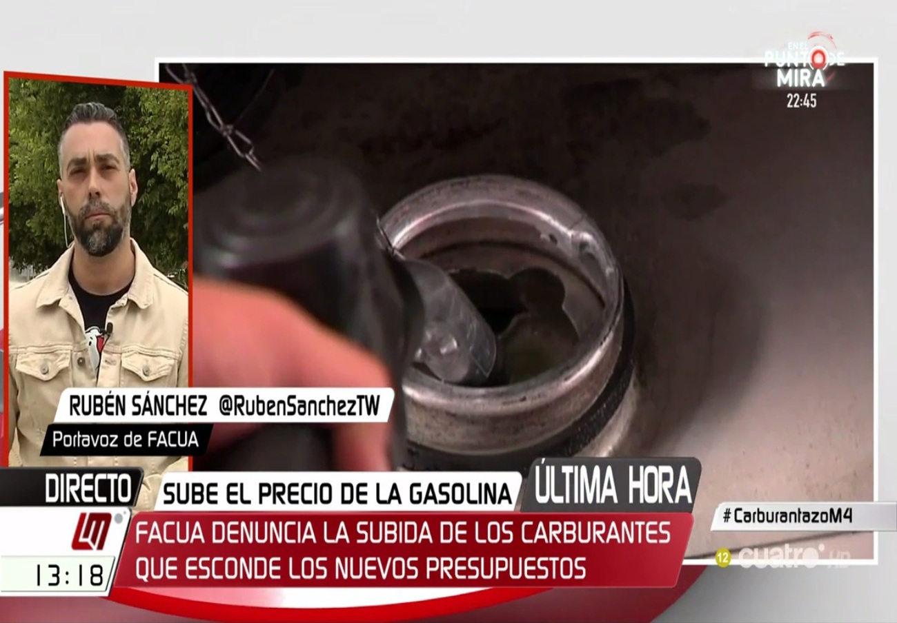 """Rubén Sánchez: """"El sector de los carburantes es un oligopolio sin control"""""""