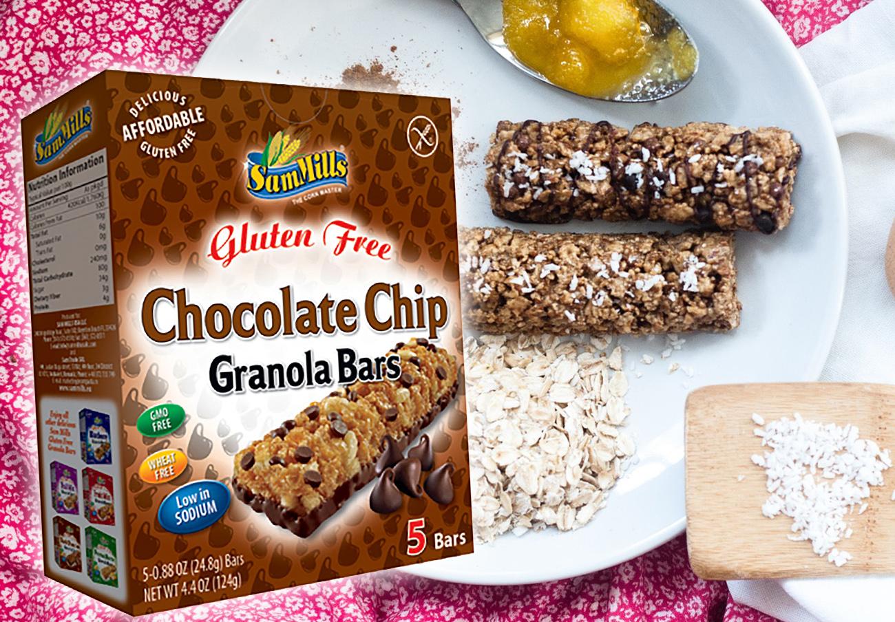 Detectan proteínas de leche no declaradas en las barritas de cereales con chips de chocolate Sam Mills, alerta FACUA