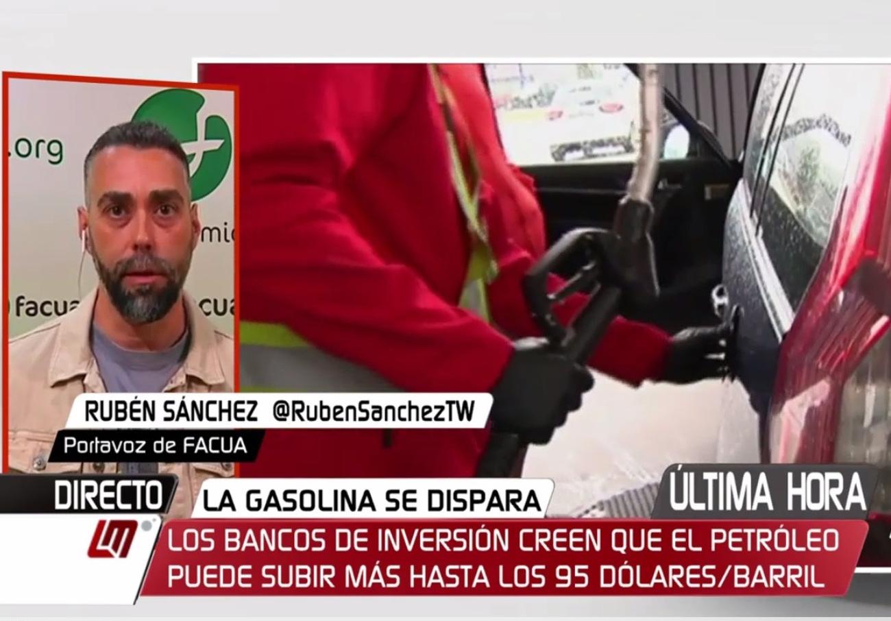 """Rubén Sánchez: """"Hace justo 20 años Aznar eliminó los precios máximos en la gasolina prometiendo competencia"""""""