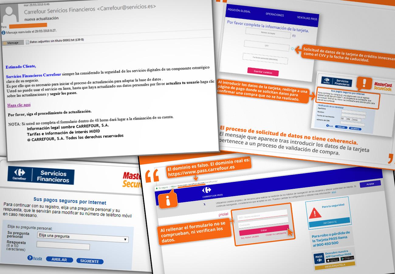 FACUA alerta de una campaña de 'phishing' que suplanta a Carrefour Pass para robar información personal
