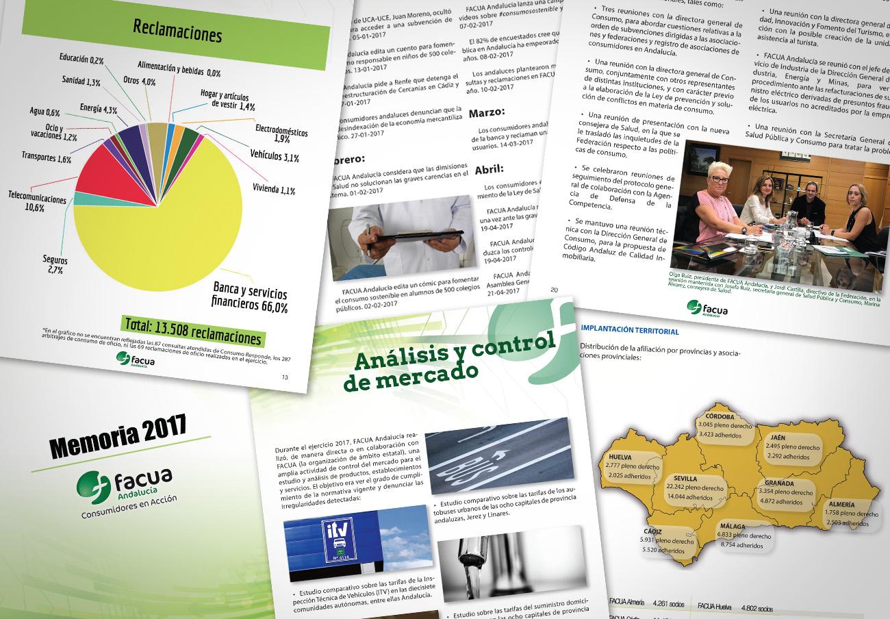FACUA Andalucía publica su 'Memoria 2017'