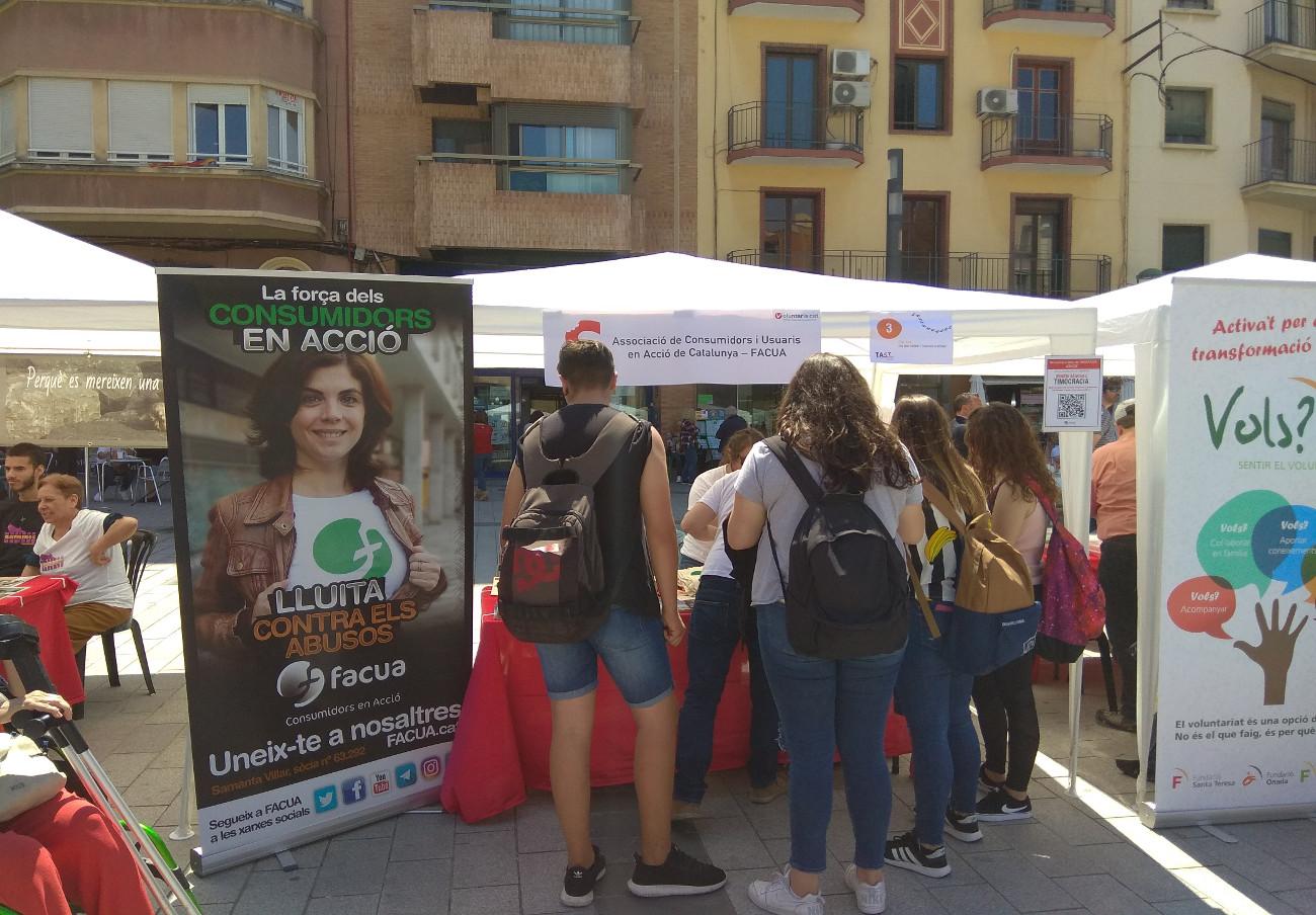 FACUA Catalunya, presente un año más en la feria de voluntariado TAST Social de Tarragona