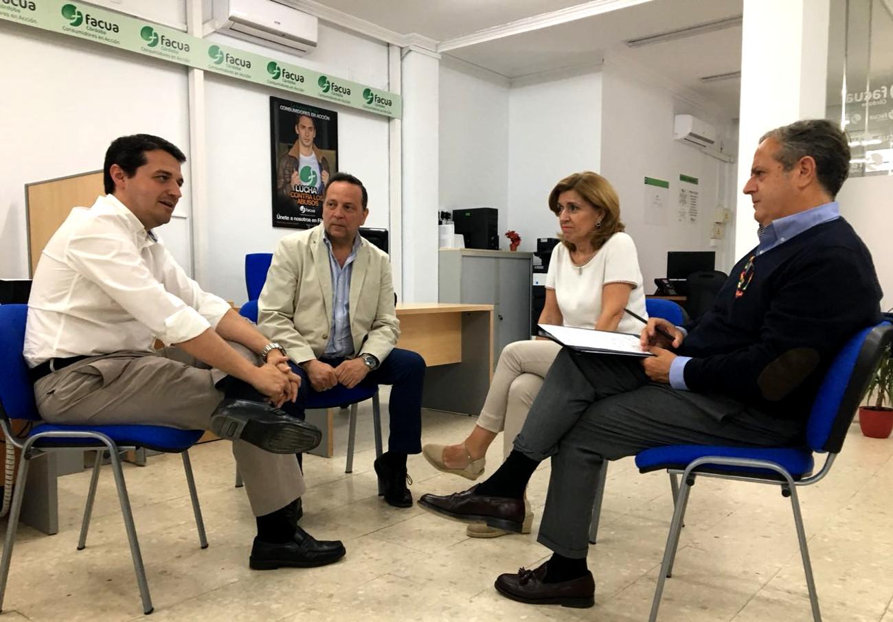 FACUA Córdoba traslada al PP el abandono de las políticas de consumo de la ciudad
