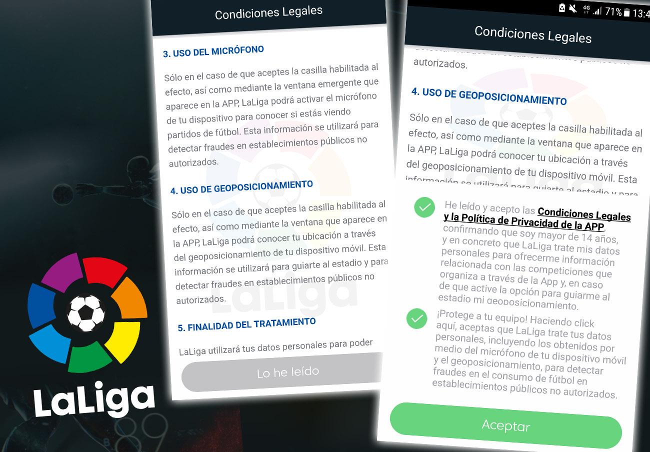 La AEPD multa con 250.000 euros a La Liga por la aplicación que usa el micrófono de los móviles
