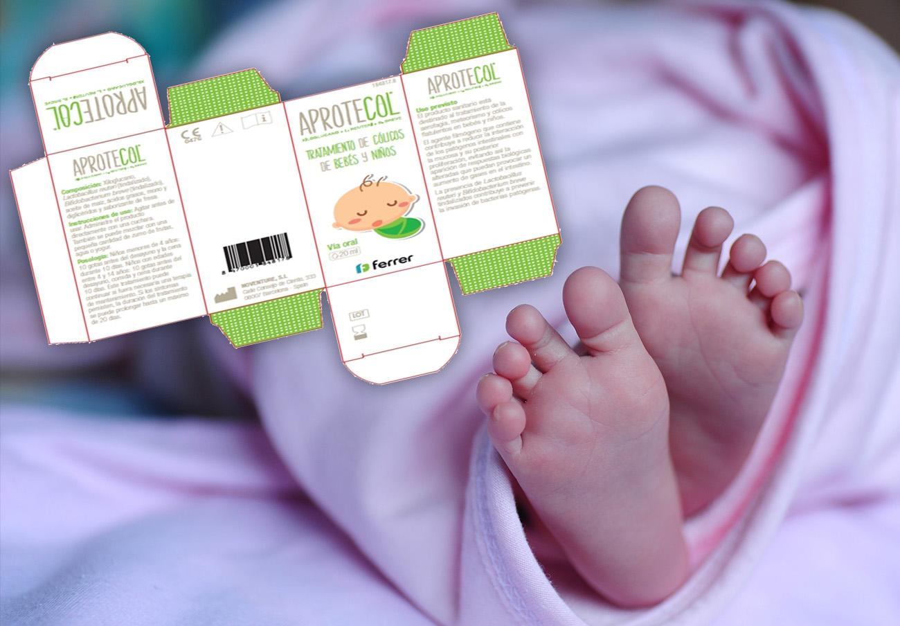 Sanidad retira el medicamento para el cólico del bebé Aprotecol tras un caso de alergia grave en Francia