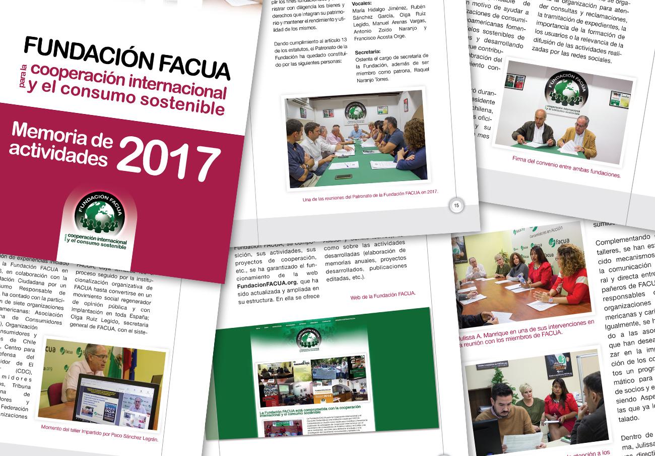 La Fundación FACUA publica su 'Memoria 2017'