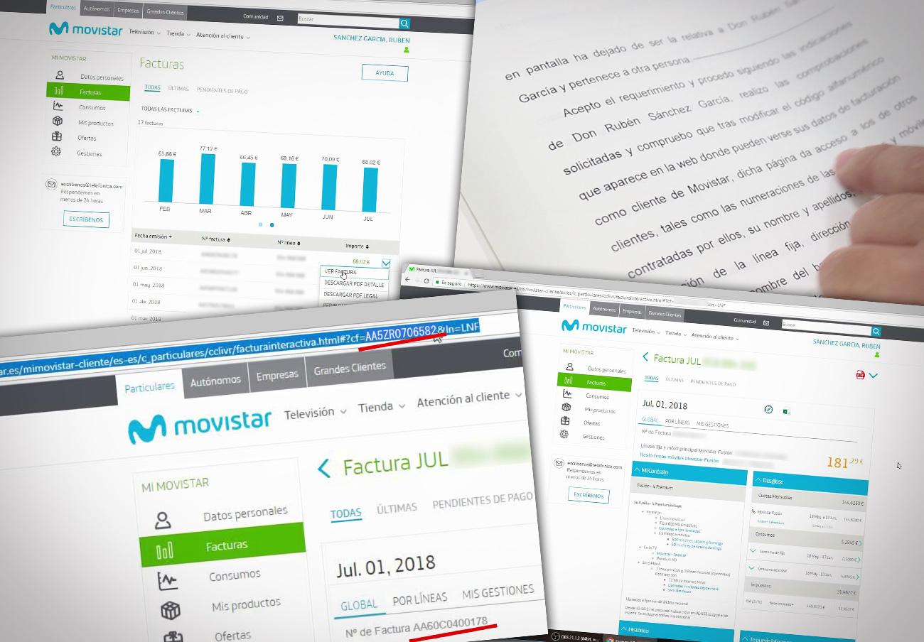 FACUA denuncia un agujero de seguridad en la web de Movistar que ha expuesto los datos de sus clientes