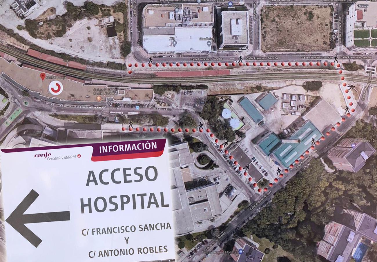 FACUA Madrid insta a Renfe a que reabra el acceso subterráneo al Hospital Ramón y Cajal