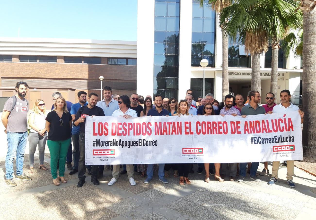 FACUA Sevilla muestra su apoyo a los trabajadores de El Correo de Andalucía tras el anuncio del cierre