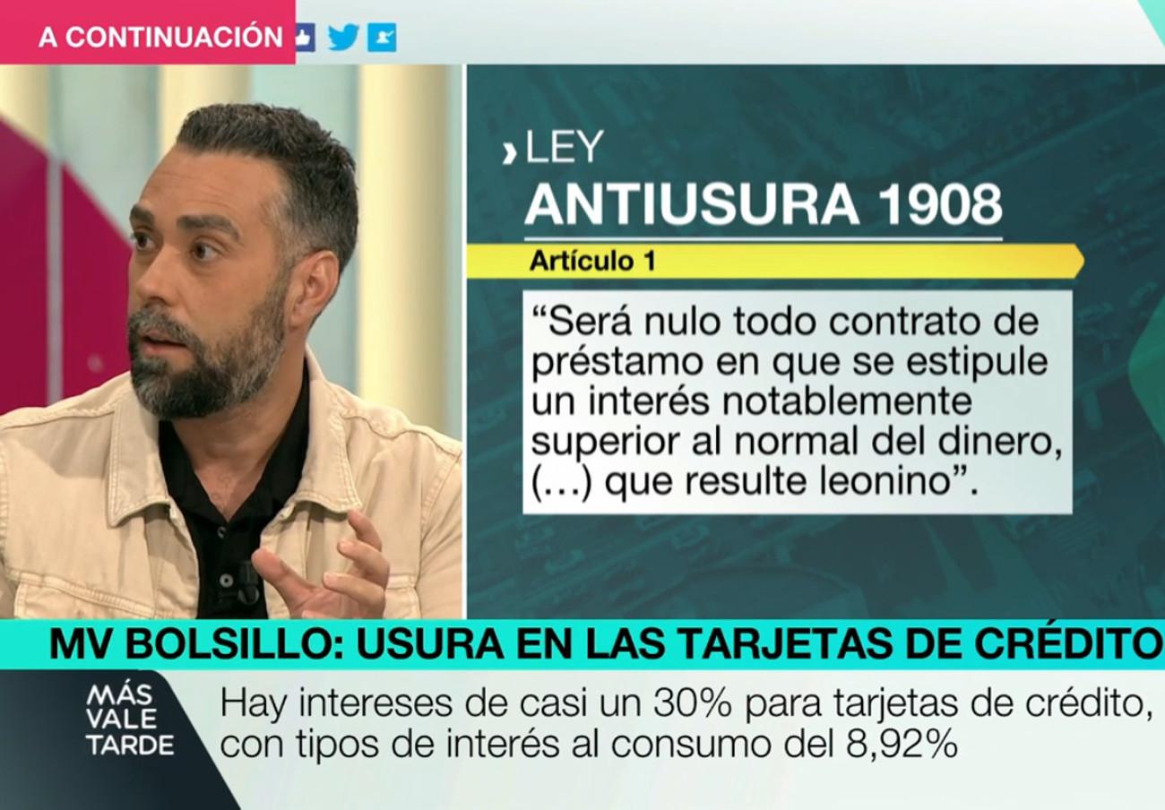 """Rubén Sánchez: """"Muchísimas hipotecas y créditos al consumo incluyen intereses ilegales por pagar tarde"""""""