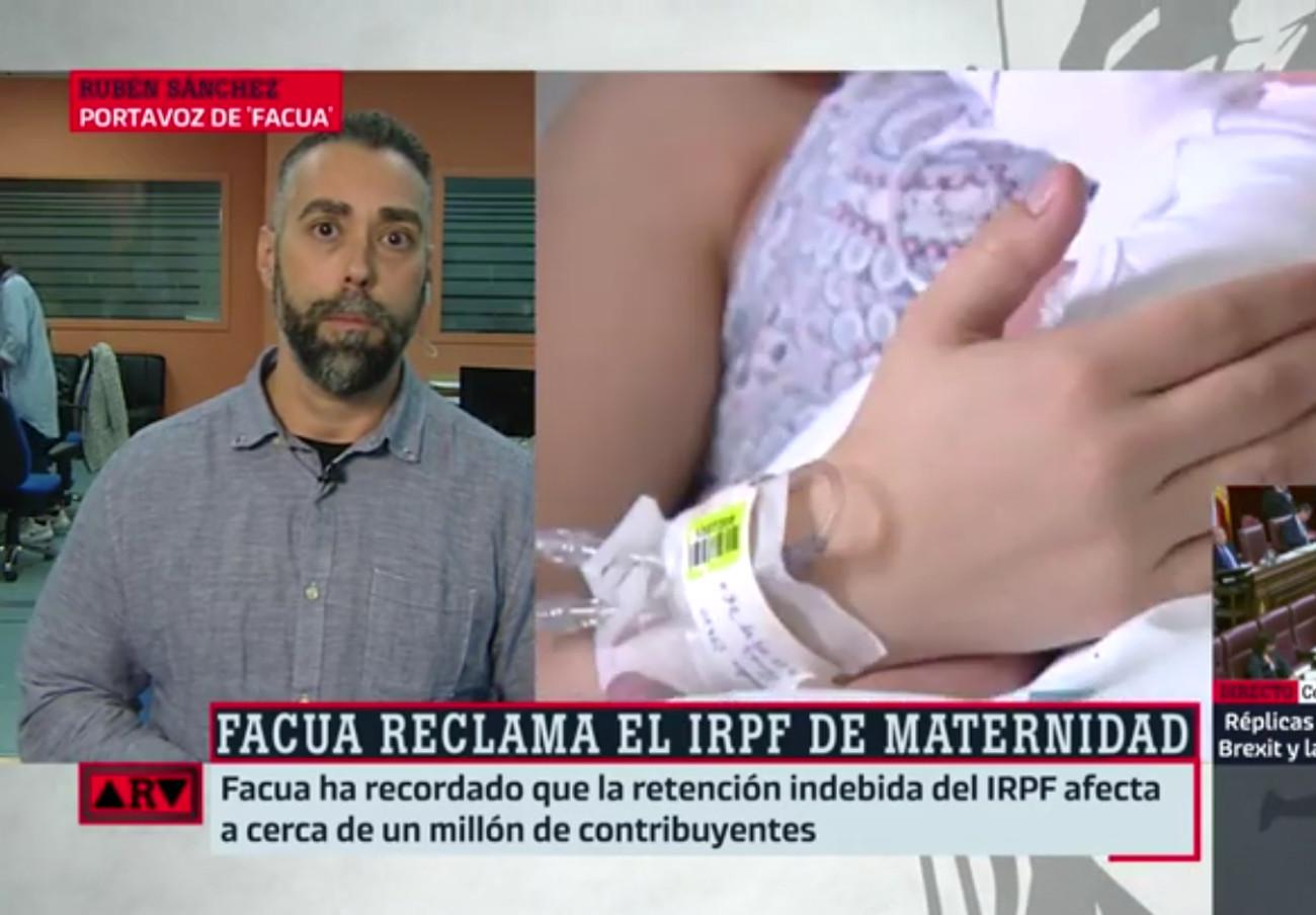 """Rubén Sánchez: """"No tiene sentido que Hacienda obligue a más de un millón de personas a reclamar por el IRPF de maternidad"""""""