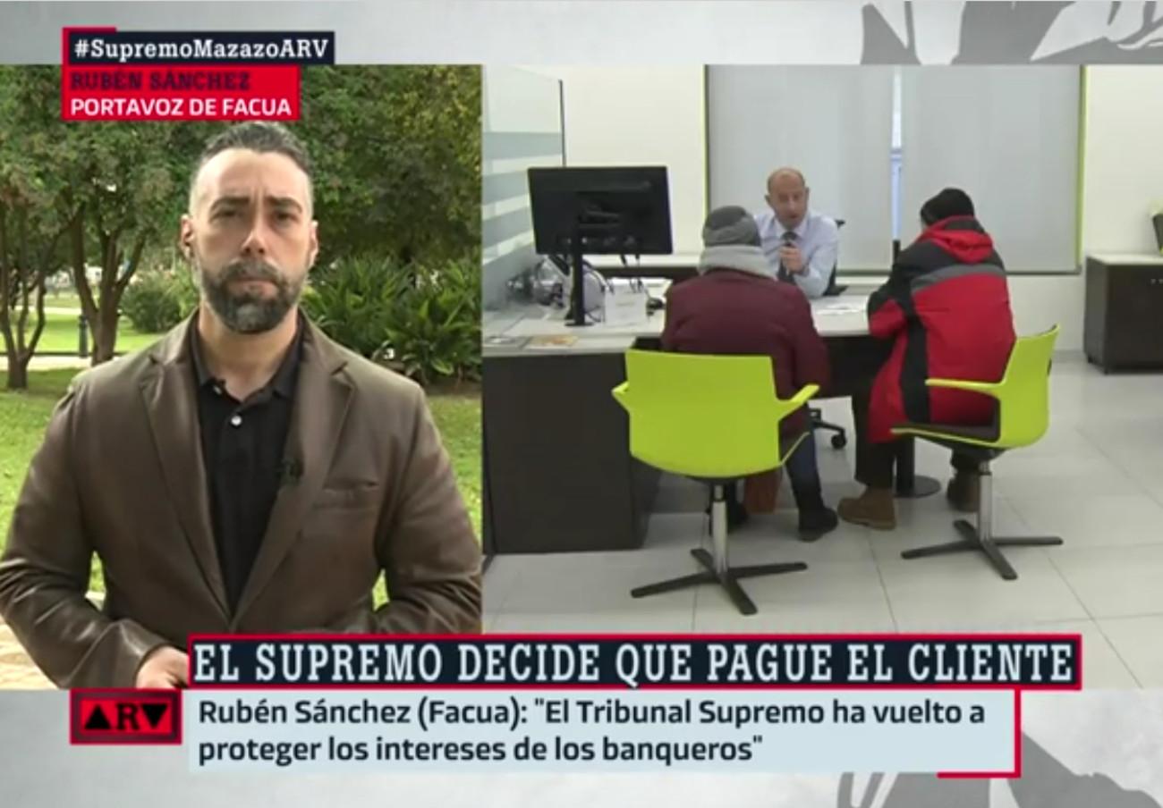 """Rubén Sánchez: """"Esperemos que un juez pida al TJUE que se pronuncie sobre el impuesto de las hipotecas"""""""