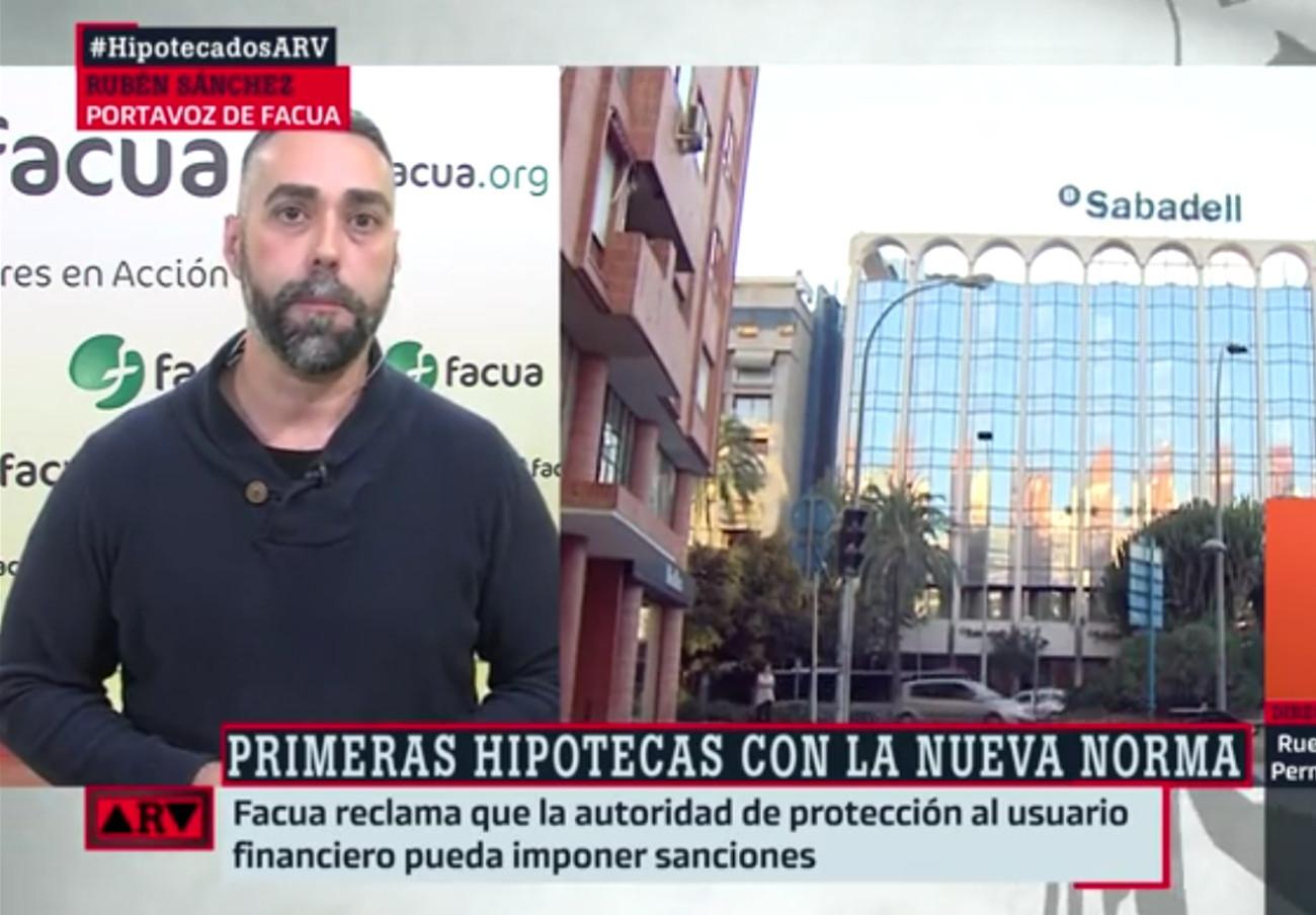 """Rubén Sánchez: """"La CNMC tiene que estar atenta a los movimientos de la banca en el asunto de las hipotecas"""""""