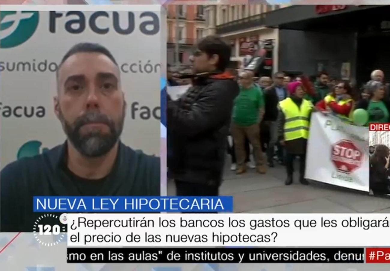 """Rubén Sánchez: """"En la reforma de la ley hipotecaria, el banco debe pagar la tasación porque es quien la necesita"""""""