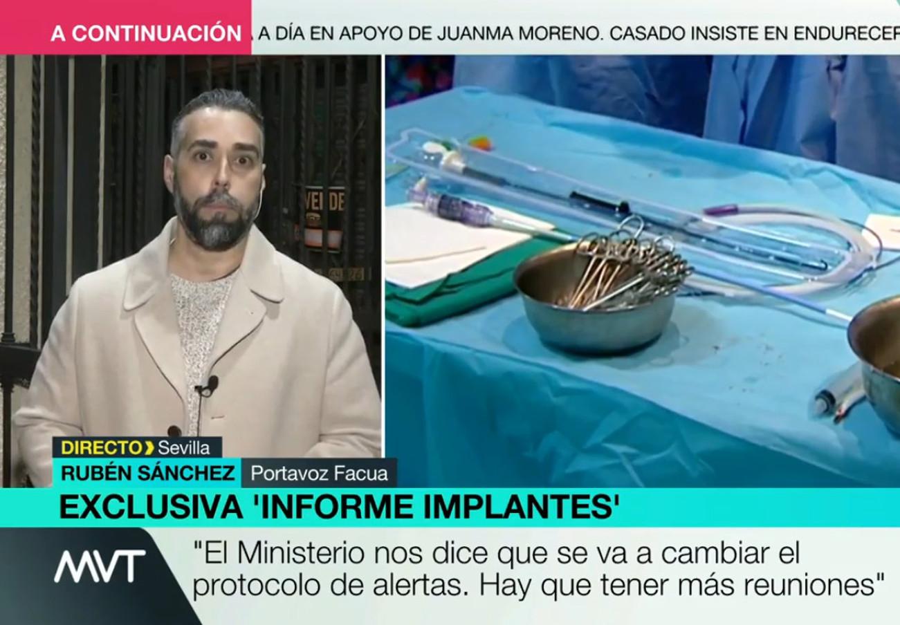"""Rubén Sánchez sobre #ImplantFiles: """"Lo que genera alarma social es que se oculten datos de productos peligrosos"""""""