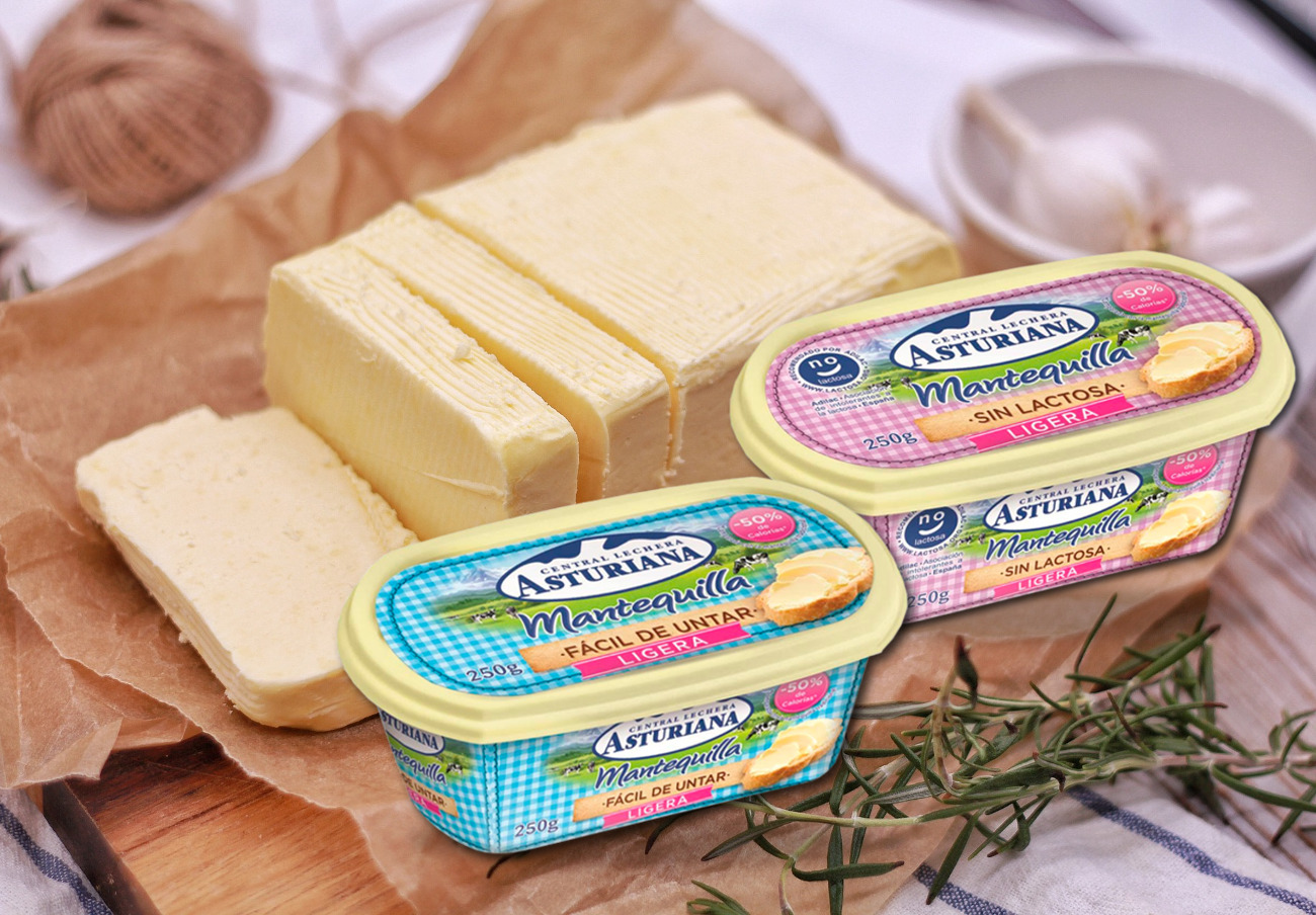 El etiquetado y la publicidad de las mantequillas de Asturiana cumplen la legislación