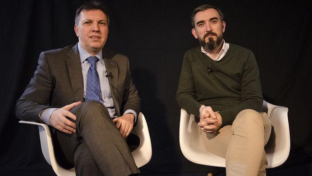 Paul Bosch y Escolar en una de las presentaciones del libro El secuestro de la justicia. | Imagen: eldiario.es.