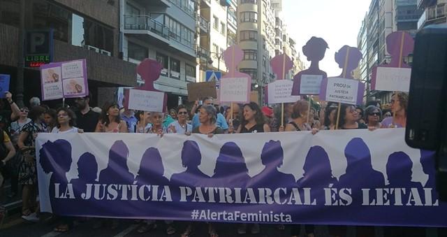 Manifestación contra la sentencia a La Manada. | Imagen: Europa Press.