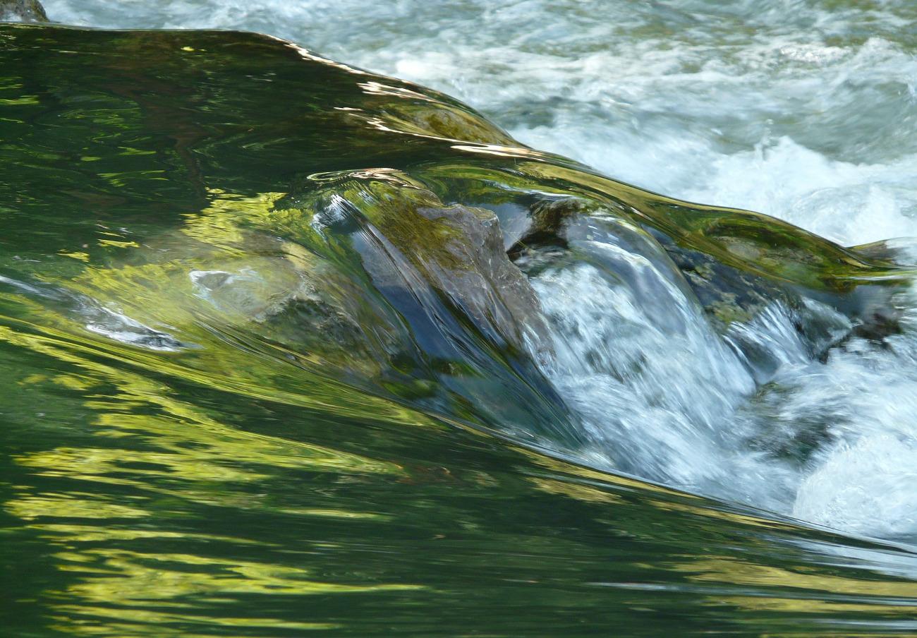 FACUA pide explicaciones a Medio Ambiente de Asturias por el estado del río Negro a su paso por Luarca