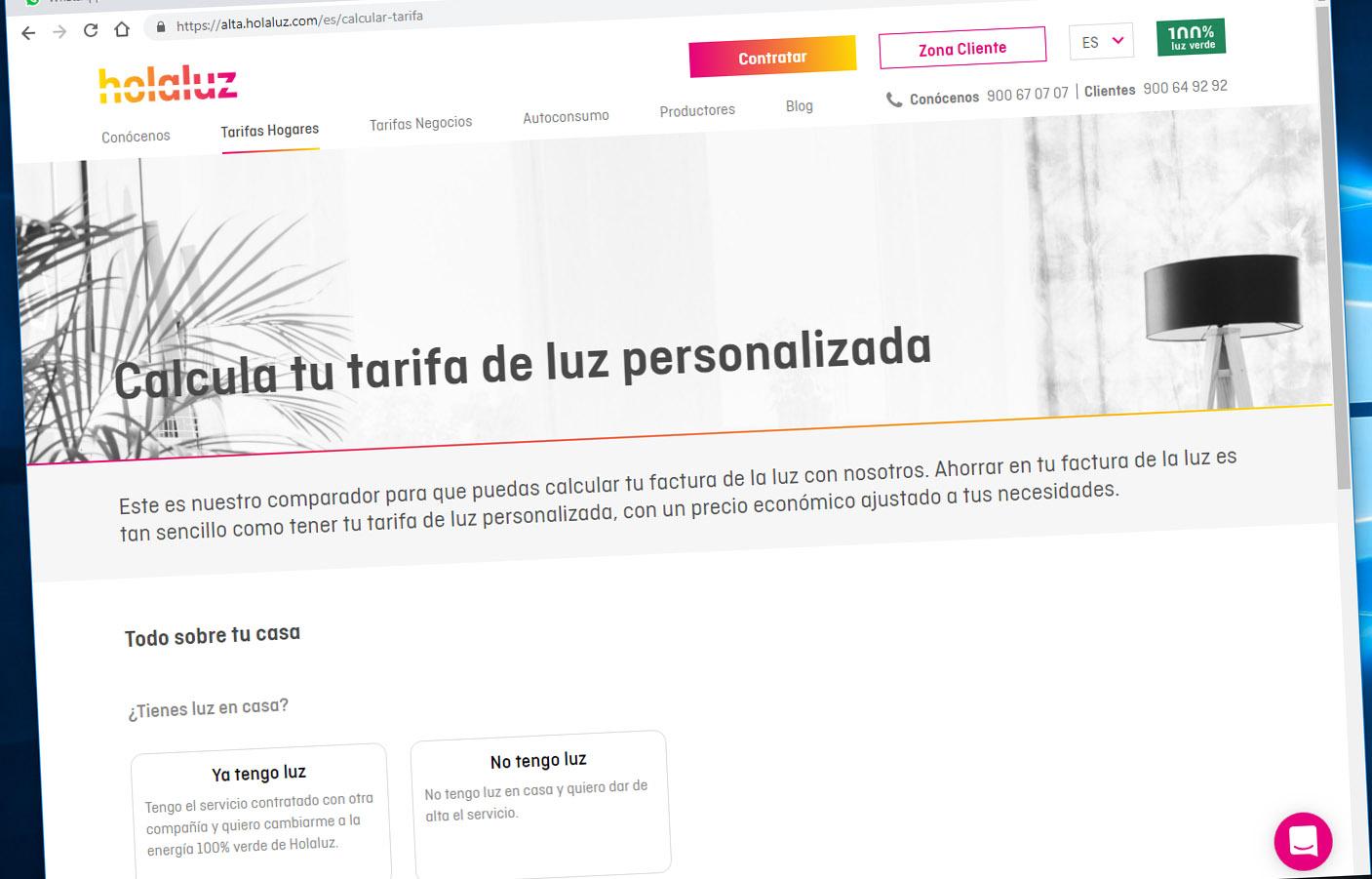 FACUA alerta de que la web de Holaluz expone datos de los contratos de los usuarios de cualquier compañía