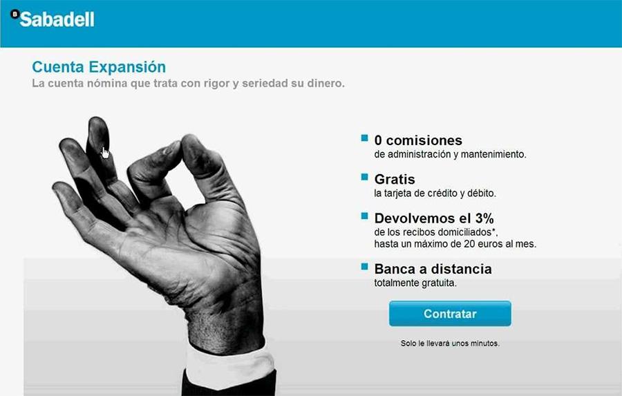 Cuenta Expansión: Sabadell se saltó la ley si no te avisó del fin de las bonificaciones de recibos al 3%